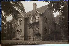 BIRMINGHAM, MICHIGAN, Photo Post Card 1905-15 Oakland County, STREET, SCHOOL