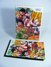 DRAGONBALL Z BUDOKAI TENKAICHI 3 per Nintendo Wii gioco con Ovp e istruzioni