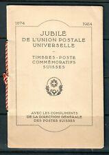 Swiss Very Rare 1924 50th Anniversary of UPU Commemoration Presentation Booklet