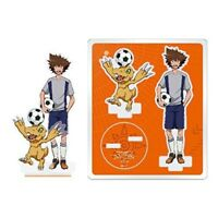 Grated draw Digimon acrylic figure Taichi & Agumon F/S