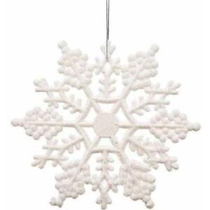 "Vickerman 4"" Glitter Snowflake Christmas Decoration Ornaments, Pack of 24"