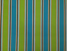 RICHLOOM BONFIRE OPAL STRIPE BLUE OUTDOOR CUSHION MULTIUSE FABRIC BY THE YARD