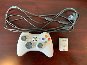 Microsoft Xbox 360 Wireless Controller Working w/ Rechargeable Battery Pack&Cord