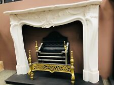 Limoges Louis Style White Marble Mantel