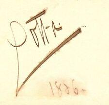 *GOLD RUSH ACTRESS LOTTA CRABTREE RARE 1886 AUTOGRAPH*