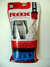 NWT RBX BOXER BRIEFS 4-PACK FLY Tagless Cotton Stretch S M L XL