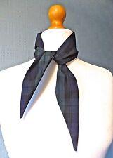 Black and green tartan scarf, Black Watch Tartan rockabilly scarf, retro 50's