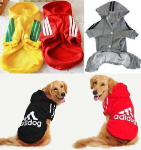 Adidog Puppy Pet Dog Cat Winter Clothes Apparel Coat Hoody Jacket Shirt Jumpsuit