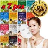 7pcs Malie Korean Face Mask Sheet Pack Facial Mask Moisture Skin Care K-Beauty