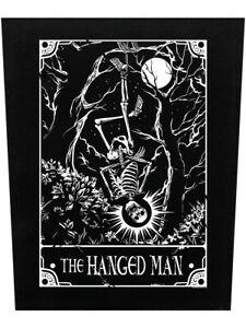 Deadly Tarot Back Patch The Hanged Man Black 39.5x36cm