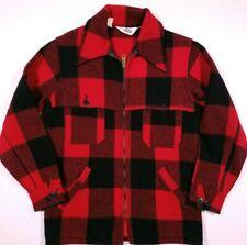 Woolrich 124  Buffalo Plaid Wool Blend Vented Outdoorsman Jacket Small Men's