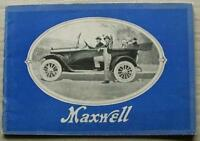 MAXWELL CAR RANGE Sales Brochure 1918 ENGLISH EXPORT EDITION Coupe ROADSTER ++