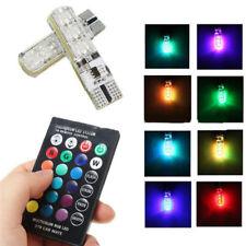2X T10 5050 6SMD RGB LED Multi color luz coche cuna bombillas automotric