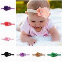 10x Kind Mädchen Baby Kleinkind Blume Stirnband Haarschleife Band Haarschmuck BC