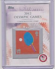 RARE 2012 TOPPS OLYMPIC STAMP CARD #CS-16 ~ PING PONG ~ TABLE TENNIS ~  L@@K!!!