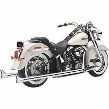 Cobra Chrome True Dual Fishtail Headers Exhaust Pipes 2012-2017 Harley Softail