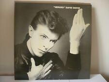 DAVID BOWIE Heroes LP RARE 3E / 5E DAVE'S RCA UK ORIGINAL 1ST PRESSING & INSERT