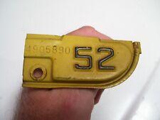 Vintage 1952 California License Plate Tab auto car Tag original Chevy dodge Ford