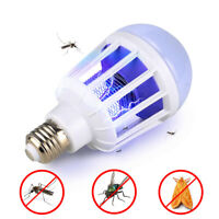 LED Insect Zappers Bombilla Mosquito Fly Insecto Asesino Lámpara Trampa Zapper
