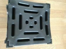 BLACK DRAIN FITTING FOR DRIVEWAY GUTTERING - 125MM SQUARE - 2 WAY SLOT FITTINGS