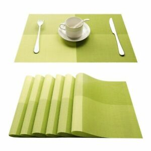 4pcs Dining Table Mat Cup Coaster Non Slip PVC Washable Kitchen Pad Accessories