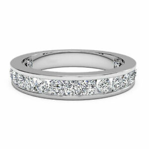 1.00 Ct Diamond Engagement Bands 14K White Gold Anniversary Bands Size 4.5 5 6.5