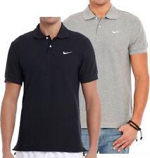 New Men's Nike Cotton Pique Polo Shirt T-Shirt Top - Grey & Black