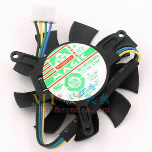 For MAGLC MGT5012XB-W10 12V 0.19A graphics card cooling fan 4-Pin