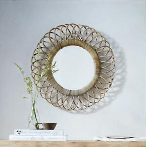 Wicker Frame Round Decorative Mirrors For Sale Ebay
