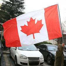 Large 3' x 5' High Quality Polyester Canadian Flag ~ Worldwide Free Shipping