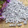 100pcs/pack DIY Mixed Alphabet Beads Acrylic Letters Wood Bead For Bracelet Gift
