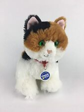 """Build-A-Bear Promise Pet Calico White Brown Black 14"""" Kitty Cat Green Eyes"""