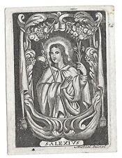1800 circa SANT'ALESSIO santino acquaforte holy card Alexius of Rome Alexis