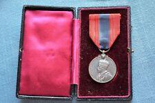 WWI Era British King George V Imperial Service Medal, Engraved w/ Original Box