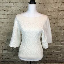 a.n.a A New Approach Womens Top Crochet Knit Boat Neck Size Medium *1*