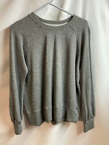 Sundry for Evereve Gray Soft Long Sleeve Sweater Pullover Crewneck Top size 0 XS