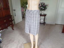 New Ann Taylor Beige Multi Plaid Front Pleat Career A Line Skirt Size 4