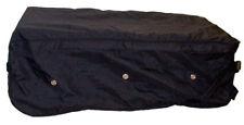 BLACK Rolling Hay Bale Bag Wheels Handle Horse Show Travel Waterproof Luggage