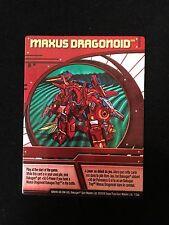 Bakugan Maxus Dragonoid Character Ability Card 1/2ab RARE!
