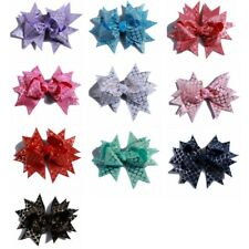 10PCS 10CM Grosgrain Ribbon Swallow-tailed Hair Bows Butterfly Shaped No Clips