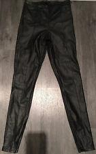 TOPSHOP Black Faux Leather Trousers UK Size 8/EUR 36