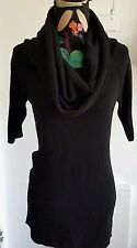 Black Three Way Wear Top Casual Short Sleeves Cotton By Express Size M