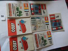 Lego: 7 alte kleine Beipackzettel