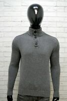 Maglione Uomo North Salis Taglia M Cardigan Felpa Pullover Grigio Lana Sweater