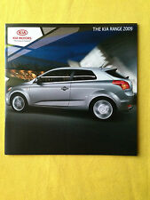 Kia range Carens Soul Sedona C'eed car brochure sales catalogue June 2009 MINT