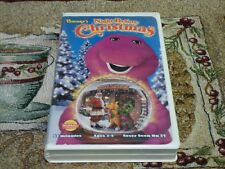 BARNEY'S NIGHT BEFORE CHRISTMAS~BJ~KIDS LEARN HOW TO WORK TOGETHER~TESTED VG~VHS