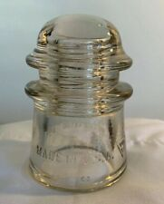 STRONG PEACH CD 122 WHITALL TATUM No 2. Glass Insulator Made In U.S.A