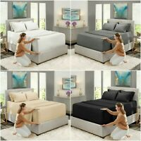 HIGH THREAD COUNT FITTED SHEET DUVET COVER 100% EGYPTIAN COTTON DOUBLE KING SIZE