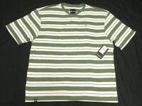 $28 NWT NEW Mens Akademiks T-Shirt Alden Striped V-Neck Tee Size 4XL 4XB 4X N146
