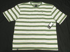 $28 NWT NEW Mens Akademiks T-Shirt Alden Striped V-Neck Tee Size 3XL 3XB 3X N146